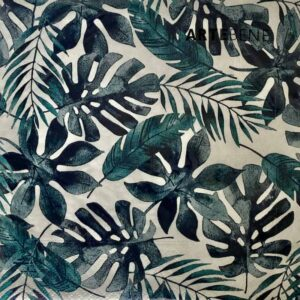 Blue Tropical Leaf Napkins