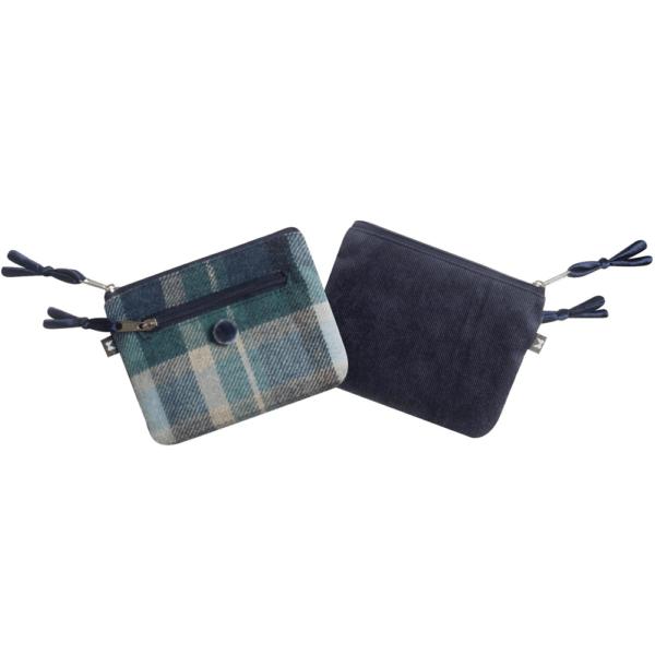 cloudburst tweed purse