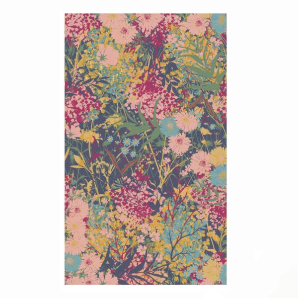 cottage garden print scarf