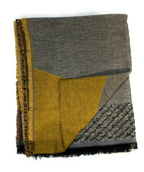 grey gold shawl scarf