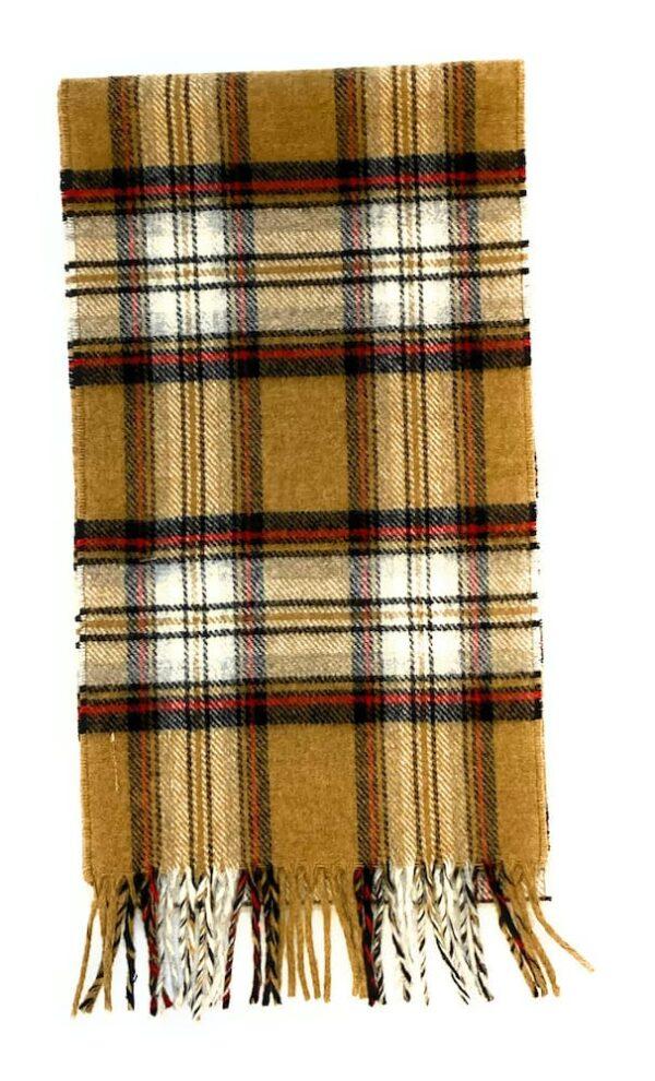 camel stewart lambswool scarf