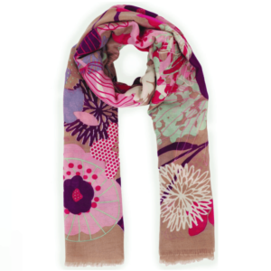floral print stone scarf