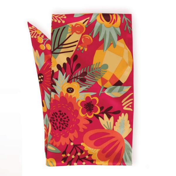 tropical fruit scarf