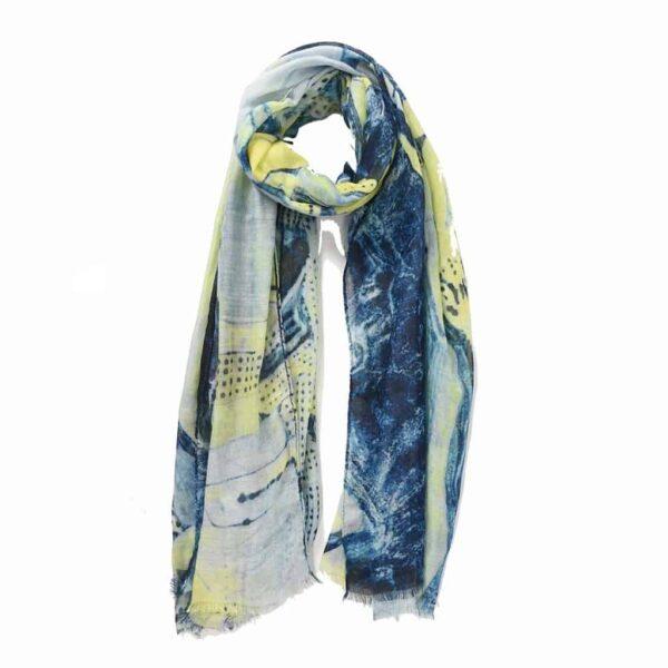 blue neon scarf
