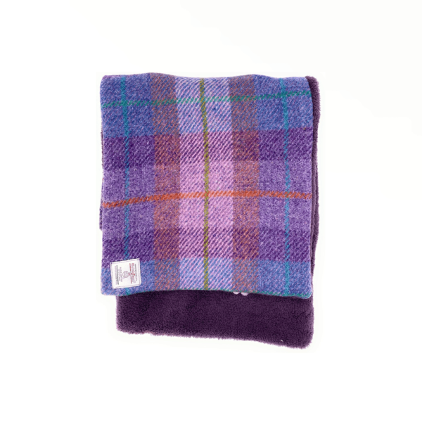 purple tweed double sided scarf