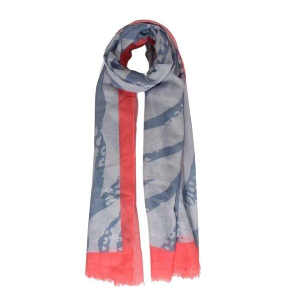 grey coral scarf