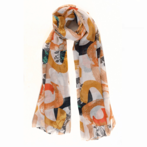 mustard floral scarf