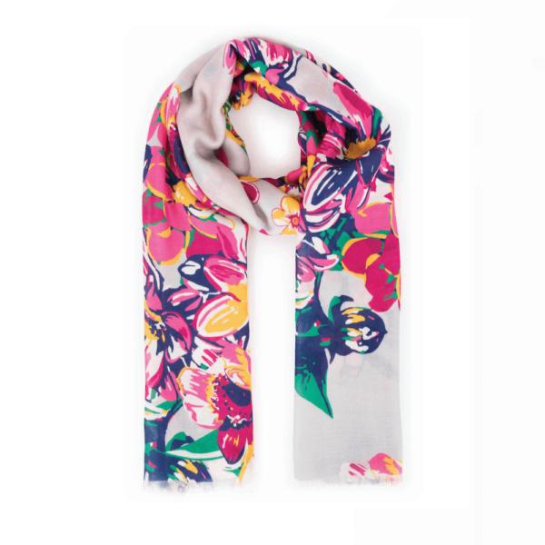 summer floral scarf