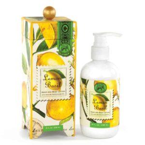 lemon basil hand body lotion