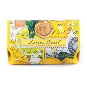 lemon basil shea soap