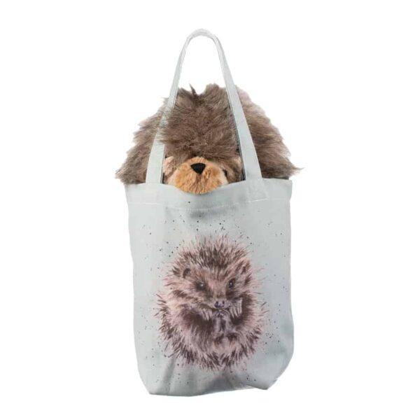 mabel hedgehog in bag