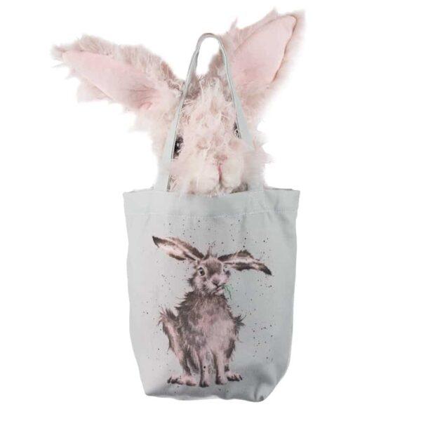 rowan hare in bag