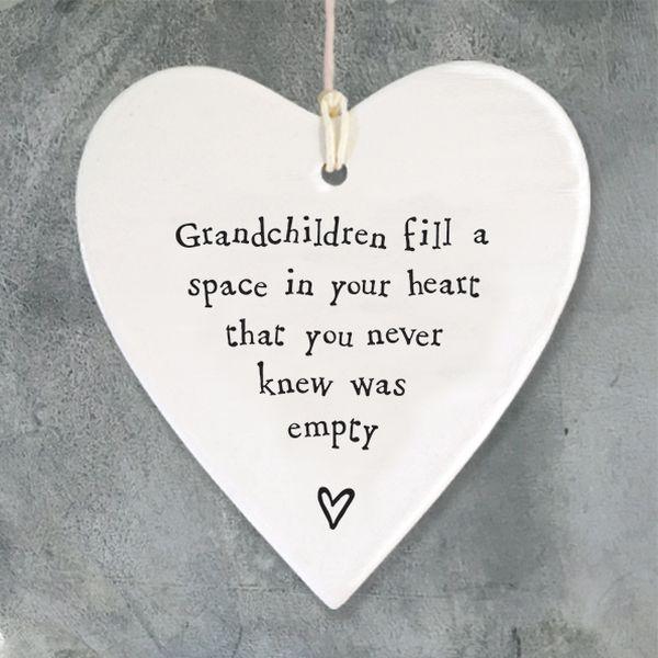 porcelain heart grandchildren
