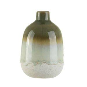 reactive green vase