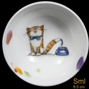 small artist cat bowl