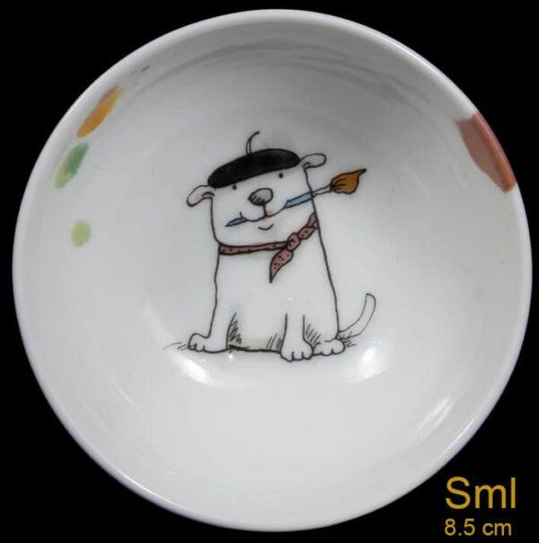small artist dog bowl