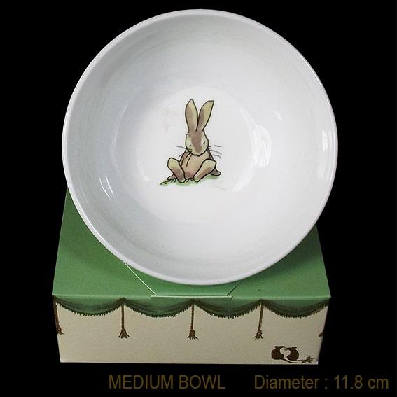 bunny sitting bowl