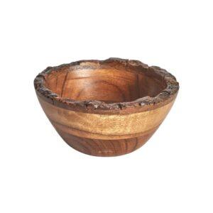 karelai wooden bowl with bark edge
