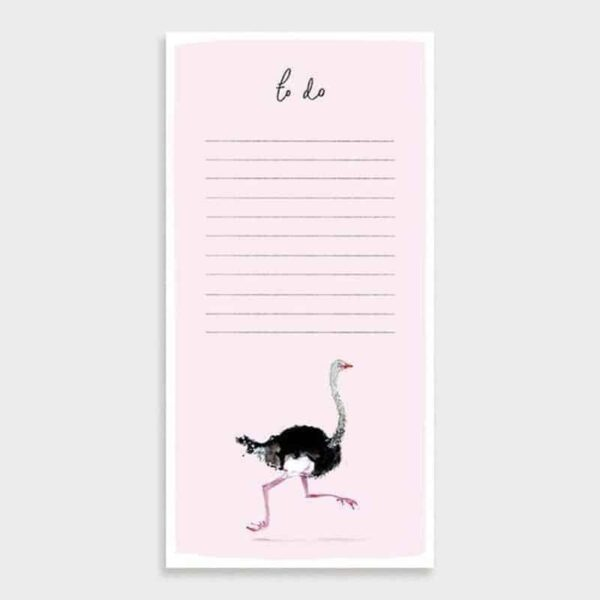 ostrich to do list pad