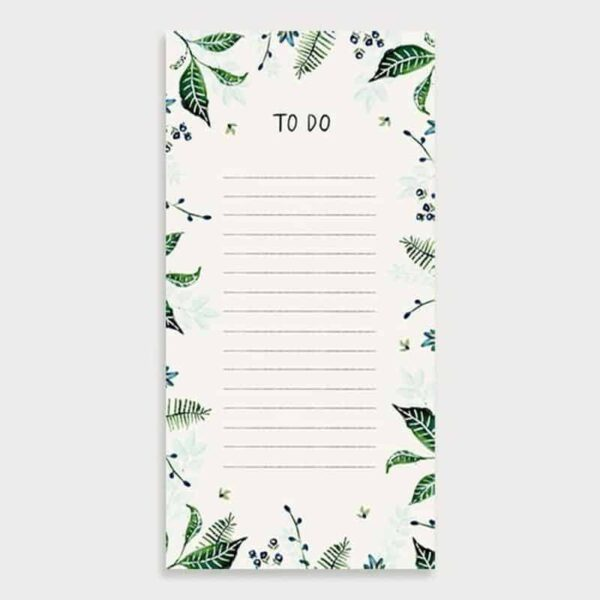 foliage to do list pad