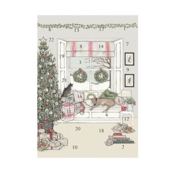 Waiting For Father Christmas Advent Card
