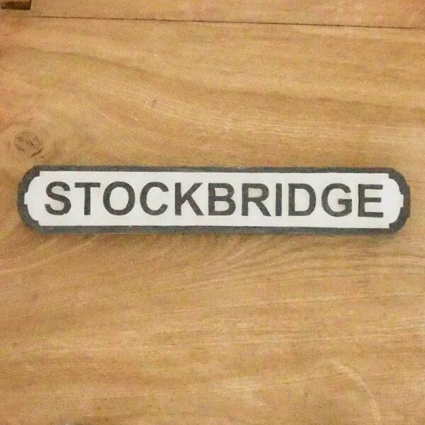 stockbridge black & white sign