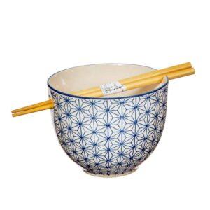sashiko pattern noodle bowl
