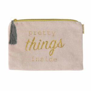 pretty things inside cosmetic bag