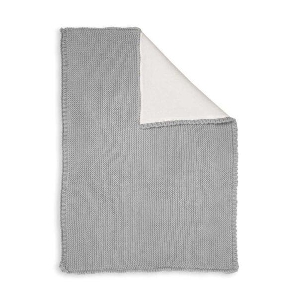 grey baby blanket spread