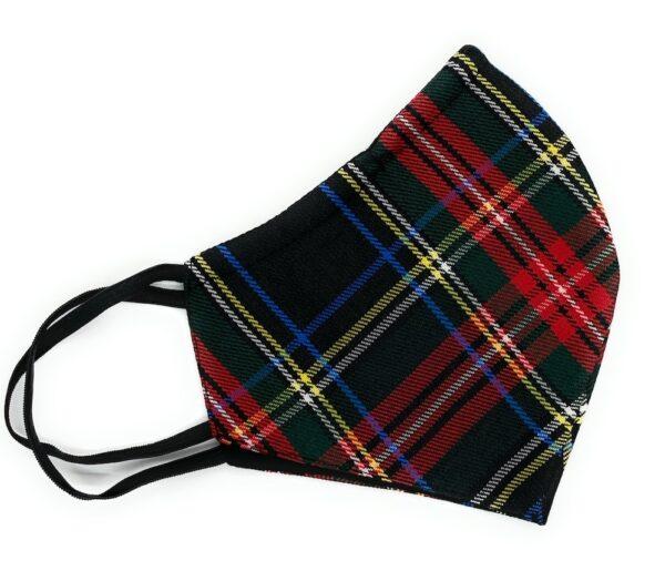 face mask in Black Stewart tartan