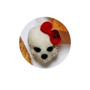 felt halloween doggy skull