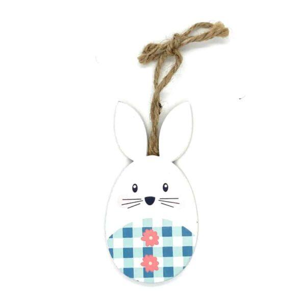 easter bunny blue checks