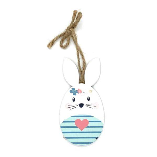 easter bunny blue stripes