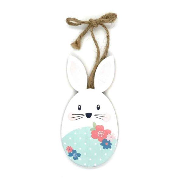 easter bunny blue white spots