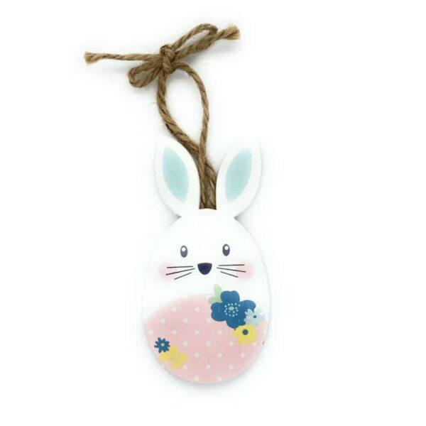 easter bunny pink white spots