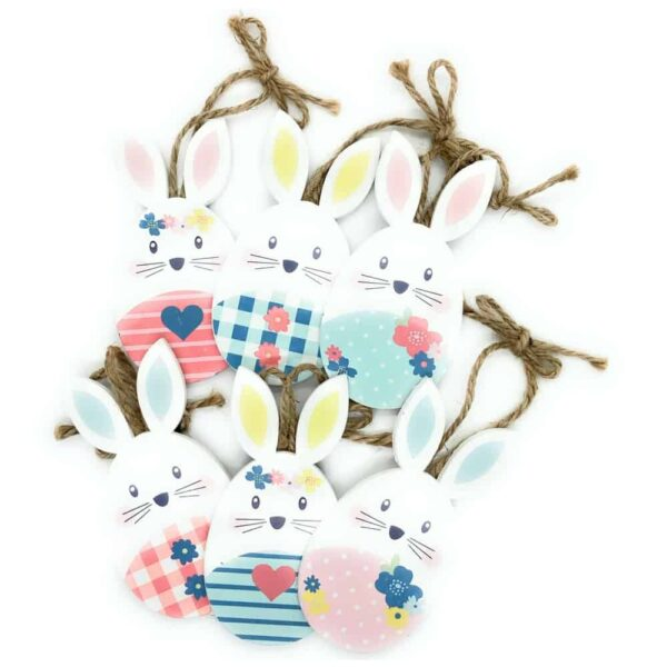 easter bunny wooden decorations
