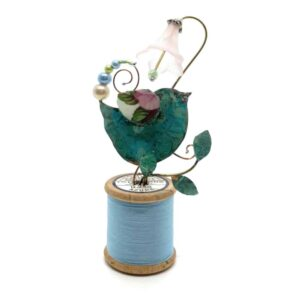 Birdie and Harebell Blue Bobbin Assemblage