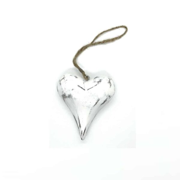 hanging mango wood heart