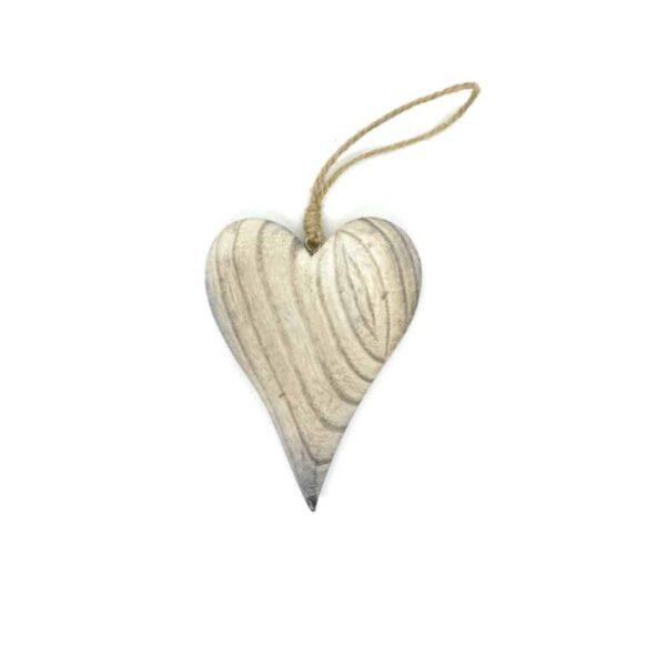 hanging wooden heart